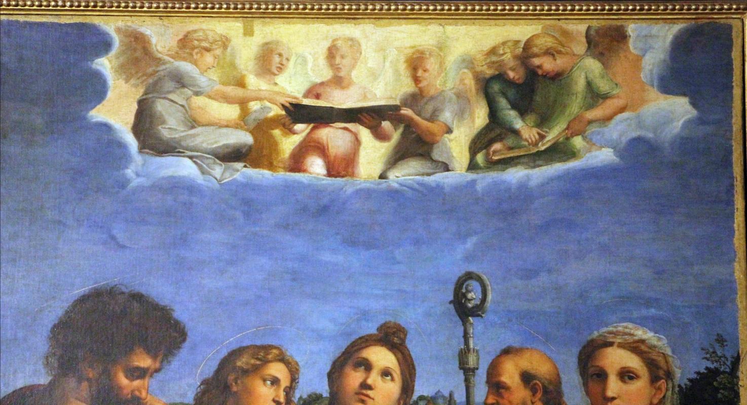 Raffaello e collaboratori, estasi di santa cecilia, 1515 ca. da pinacoteca nazionale 02 - Sailko - Bologna (BO)