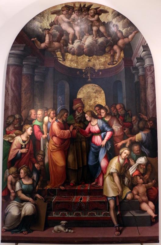 Girolamo marchesi detto il cotignola, sposalizio della vergine, 1522-24, da s. giuseppe dei cappuccini, 01 - Sailko - Bologna (BO)