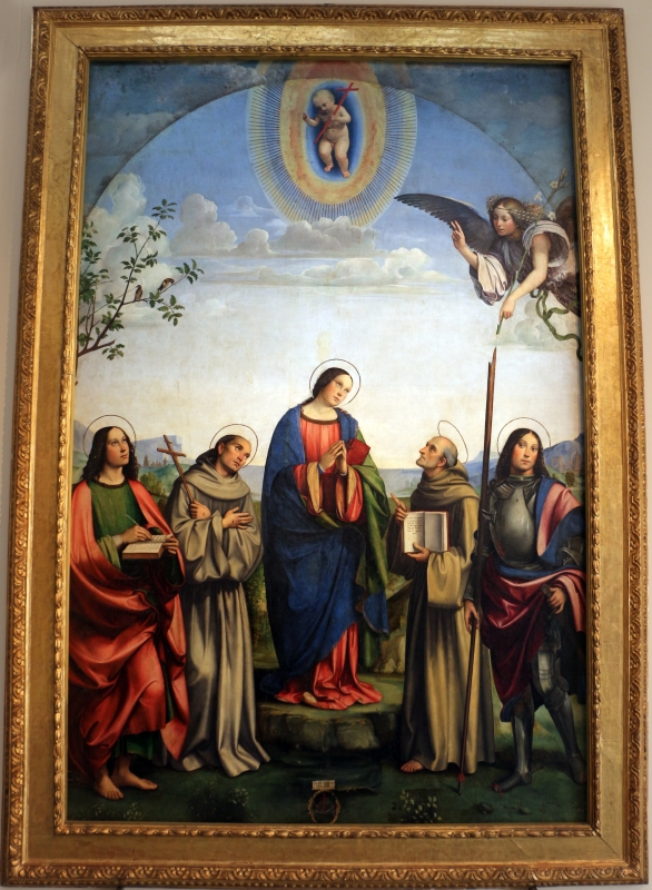 Francesco francia, annunziata tra santi, 1500, dall'annunziata, 01 - Sailko - Bologna (BO)