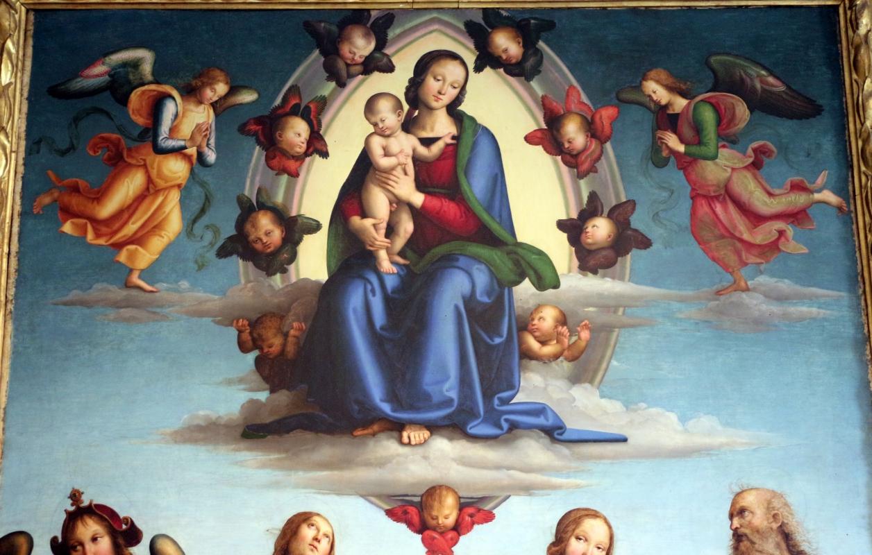 Perugino, madonna in gloria e santi, da s. giovanni in monte, 1500 ca. 02 - Sailko - Bologna (BO)