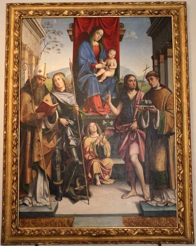 Francesco francia, madonna in trono e santi, 1490 ca, da s. maria della misericordia, 01 - Sailko - Bologna (BO)