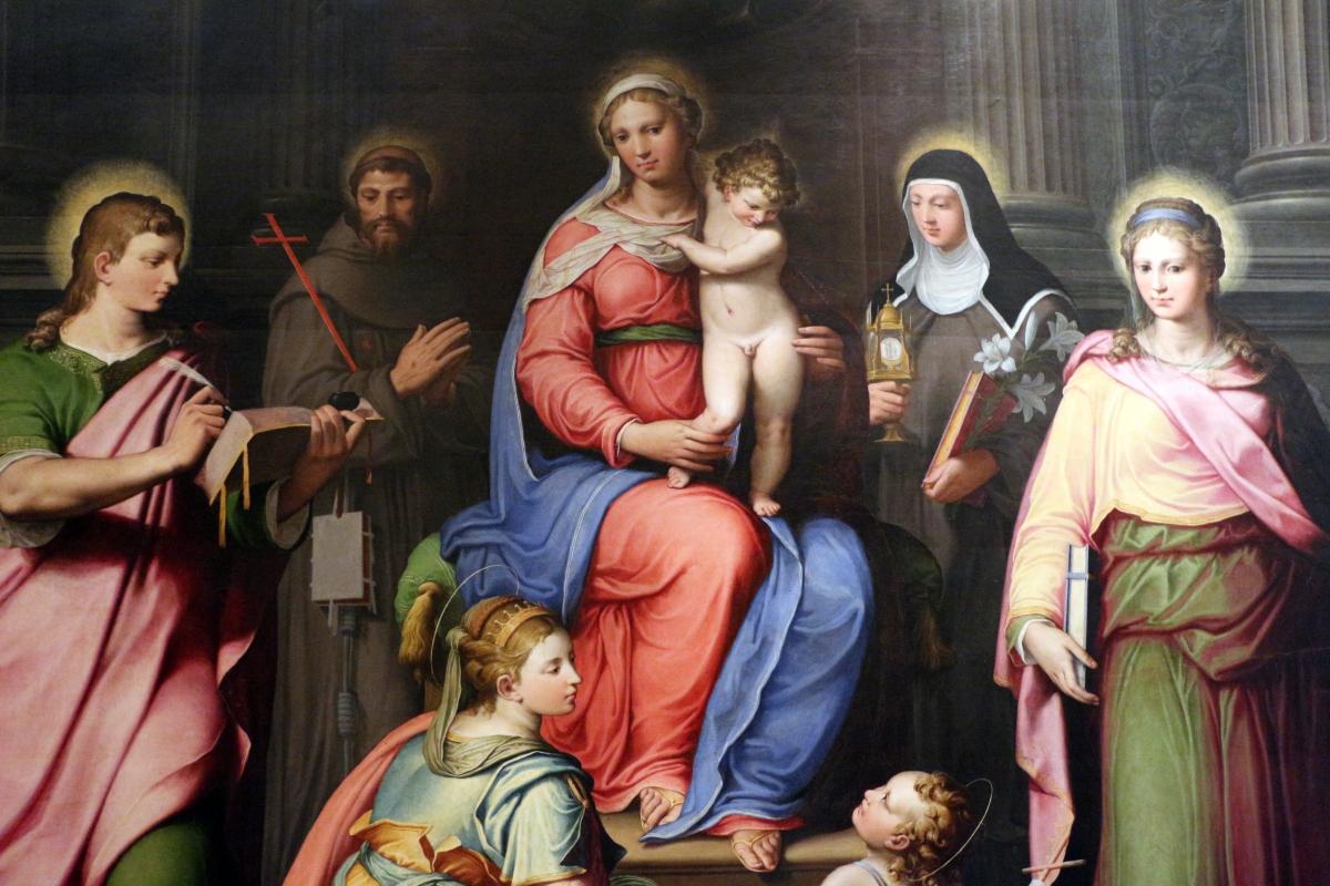 Il bagnacavallo junior, madonna in trono e santi, 1550 ca., dai s. narborre e felice, 02 - Sailko - Bologna (BO)