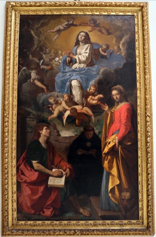 Simone cantarini, madonna in gloria tra santi, 1632-34 ca., 01 - Sailko - Bologna (BO)