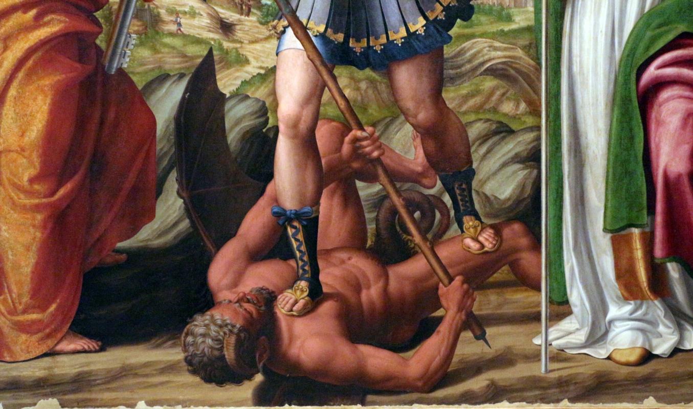Innocenzo da imola, madonna in gloria e tre santi, 1517-22, da s. michele in bosco 06 - Sailko - Bologna (BO)