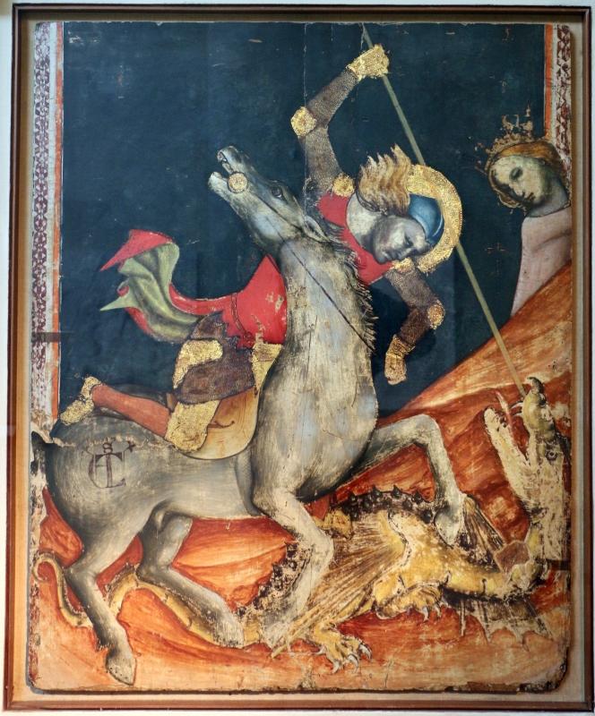 Vitale da bologna, san giorgio libera la principessa, 1330-35 ca., 01 - Sailko - Bologna (BO)