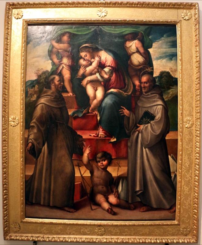 Girolamo marchesi detto il cotignola, madonna col bambino in santi, 1526-28, da compagnia di s. bernardino - Sailko - Bologna (BO)