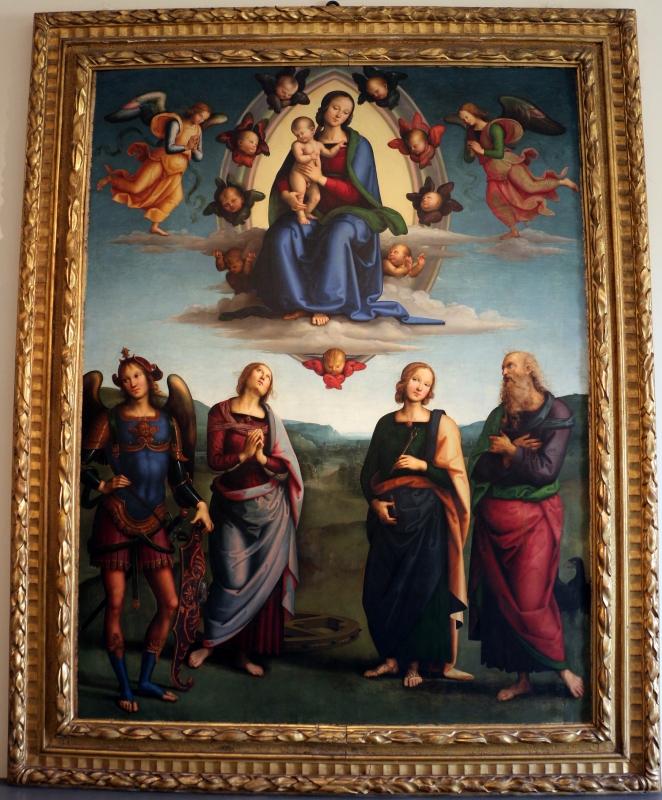 Perugino, madonna in gloria e santi, da s. giovanni in monte, 1500 ca. 01 - Sailko - Bologna (BO)