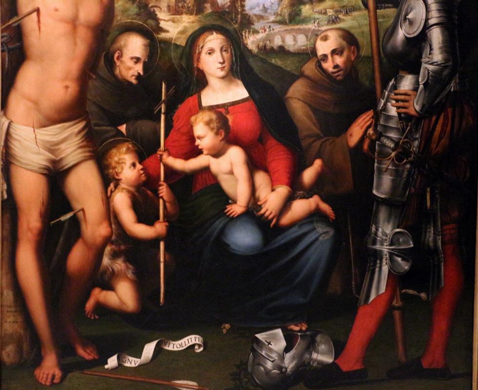 Giacomo e giulio francia, madonna col bambino tra ciqnue santi e angeli, 1526, da s. francesco 04 - Sailko - Bologna (BO)