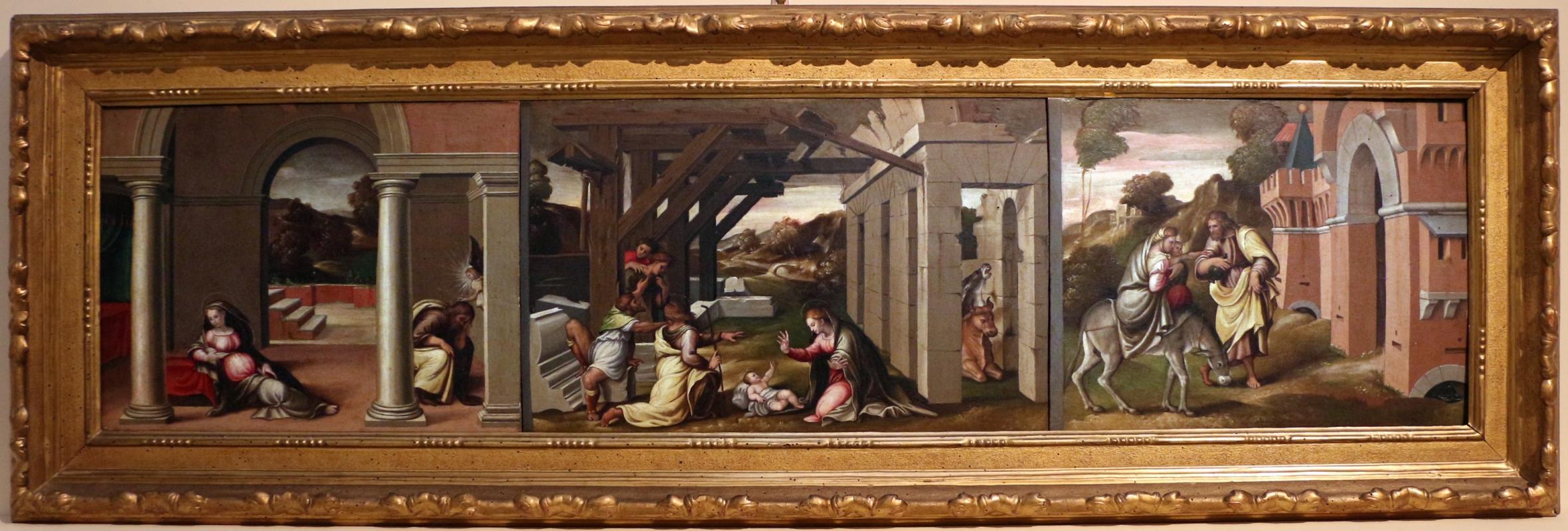 Girolamo marchesi detto il cotignola, predella da s. giuseppe dei cappuccini, 1522-24 - Sailko - Bologna (BO)