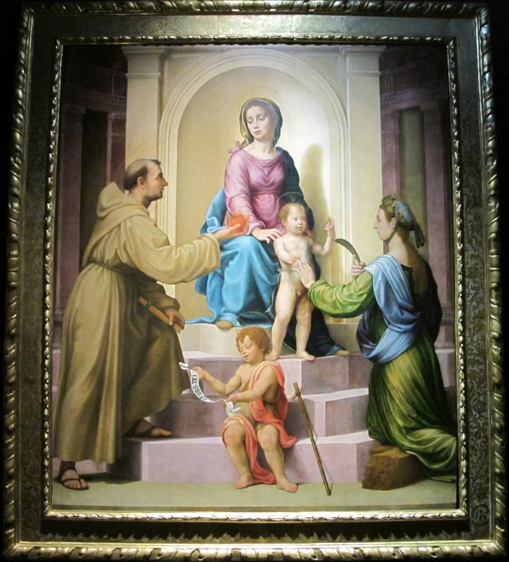 Giuliano bugiardini, sposalizio mistico di s. caterina e santi, 1523-25 (bo, pin. naz.le) 01 - Sailko - Bologna (BO)