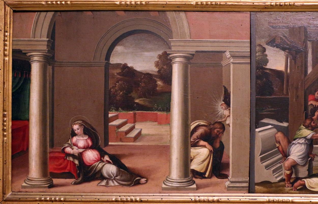 Girolamo marchesi detto il cotignola, predella da s. giuseppe dei cappuccini, 1522-24, sogno di goiuseppe - Sailko - Bologna (BO)