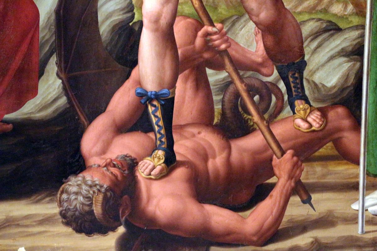 Innocenzo da imola, madonna in gloria e tre santi, 1517-22, da s. michele in bosco 07 - Sailko - Bologna (BO)