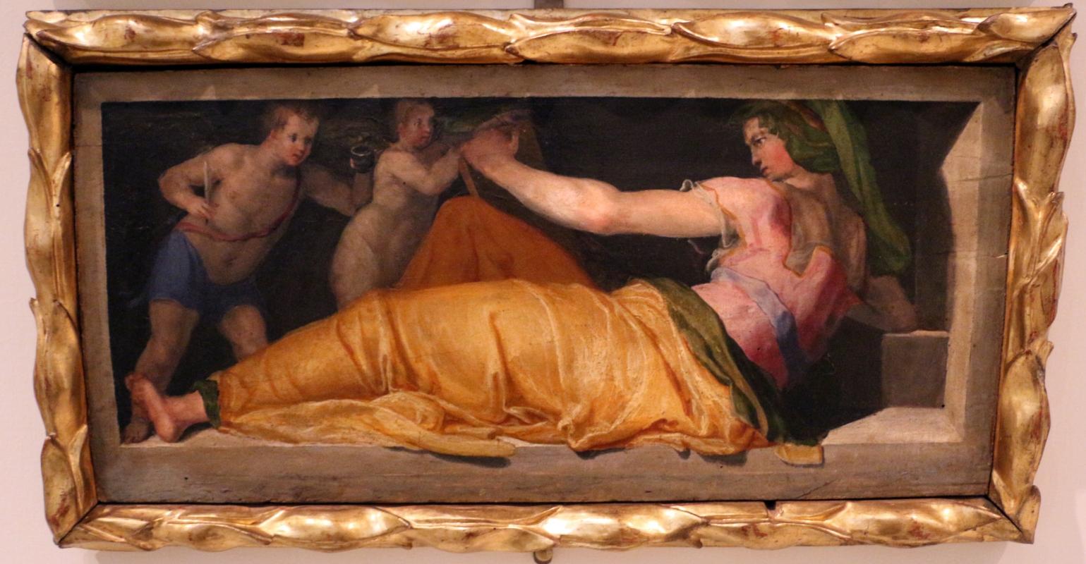 Pellegrino tibaldi (ambito), sibille con due amorini, 1550-55 ca., dai ss. narborre e felice, 02 - Sailko - Bologna (BO)