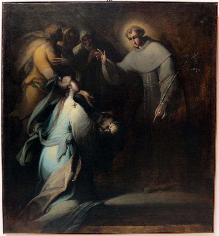 Mastelletta, dodici storie sacre, s. antonio abate benedice un bambino morto, 1611-12, da s. francesco - Sailko - Bologna (BO)