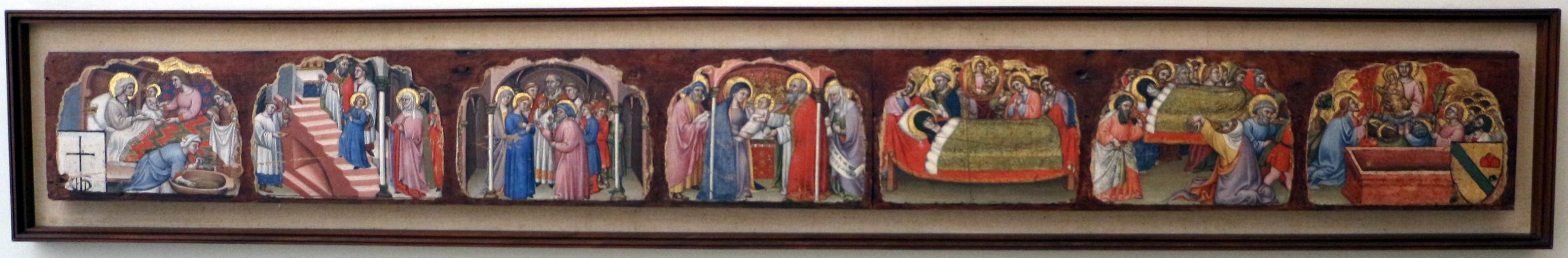 Simone dei crocifissi, sette episodi della vita di maria1396-98 ca, da polittico cospi in s. petronio 01 - Sailko - Bologna (BO)
