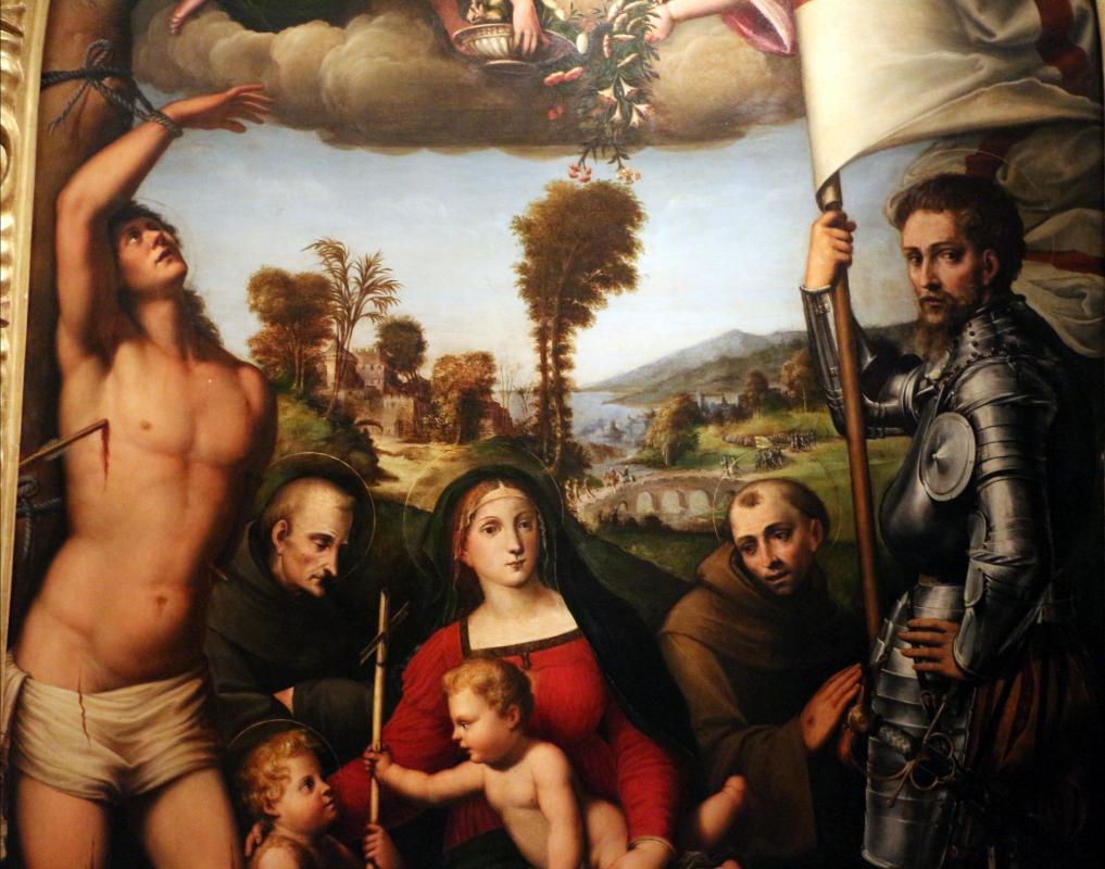 Giacomo e giulio francia, madonna col bambino tra ciqnue santi e angeli, 1526, da s. francesco 03 - Sailko - Bologna (BO)