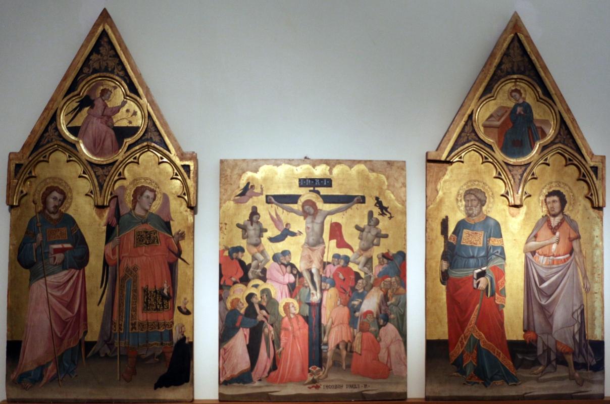 Jacopo di paolo, crocifissione, annunciazione e santi, 1400-10 ca., da s. michele in bosco 01 - Sailko - Bologna (BO)