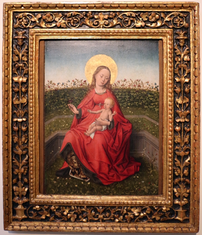 Maestro fiammingo forse di bruges, madonna del roseto, 1480ca., dai ss. narbone e felice - Sailko - Bologna (BO)