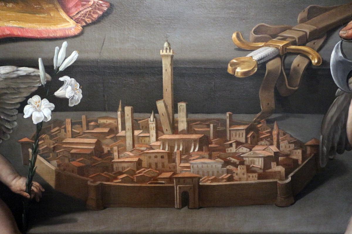 Guido reni, pietà adorata da cinque santi, 1616, da s. maria della pietà o dei mendicanti 07 veduta di bologna - Sailko - Bologna (BO)