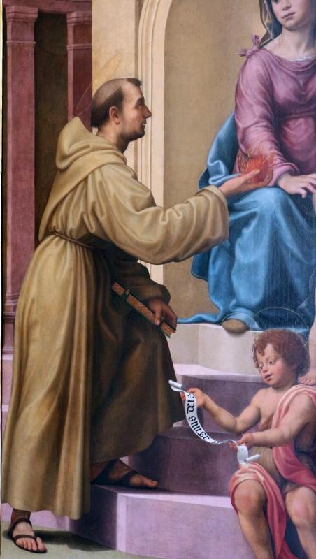 Giuliano bugiardini, sposalizio mistico di s. caterina coi ss. antonio da padova e giovannino, 1525 ca. da s. francesco 02 - Sailko - Bologna (BO)