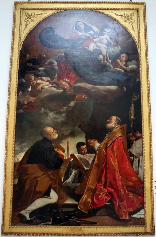 Giacomo cavedoni, madonna col bambino in gloria tra i ss. alò e petronio, 1614, da s.m. della pietà o dei mendicanti - Sailko - Bologna (BO)