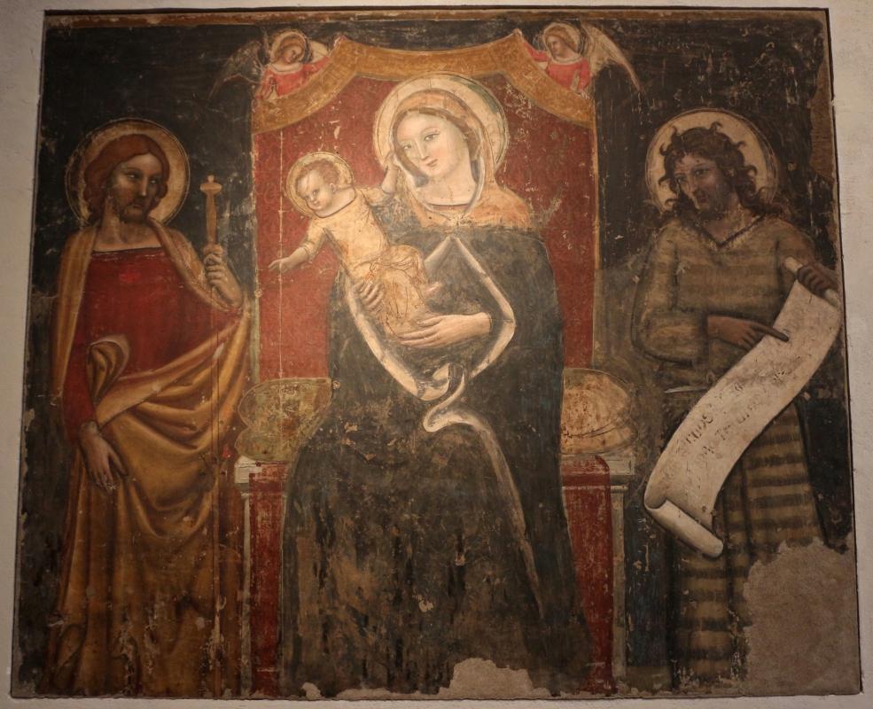 Jacopo da bologna, madonna col bambino tra i ss. jacopo e g. battista, 1350-60 ca., da s. giacomo maggiore - Sailko - Bologna (BO)