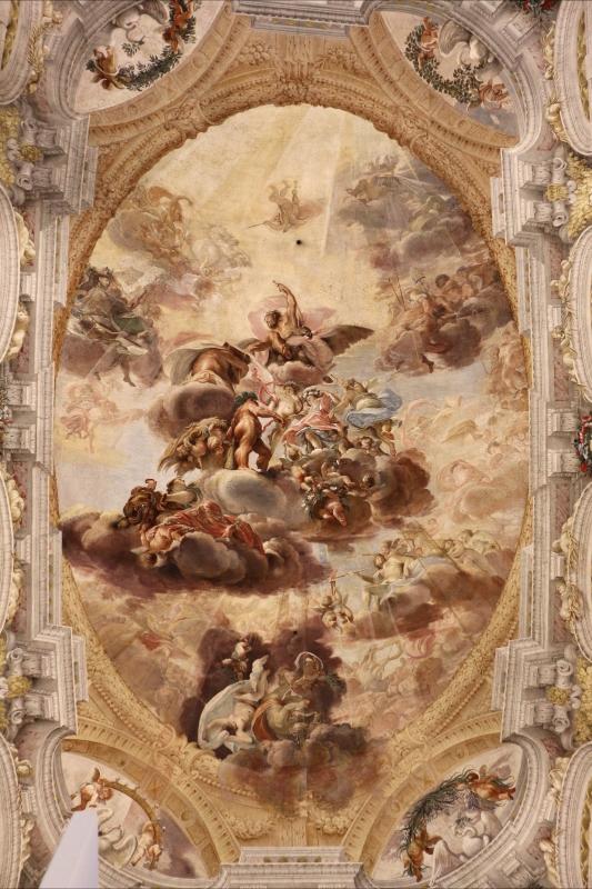 Domenico Maria Canuti, salone di palazzo pepoli campogrande con apoteosi di ercole, quadrature del mengazzino, xvii sec. 01 - Sailko - Bologna (BO)