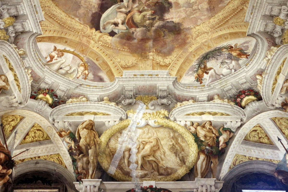 Domenico Maria Canuti, salone di palazzo pepoli campogrande con apoteosi di ercole, quadrature del mengazzino, xvii sec. 20 - Sailko - Bologna (BO)