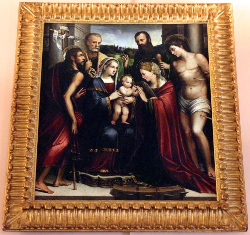 Giacomo francia, sposalizio mistico di snata caterina tra santi - Sailko - Bologna (BO)
