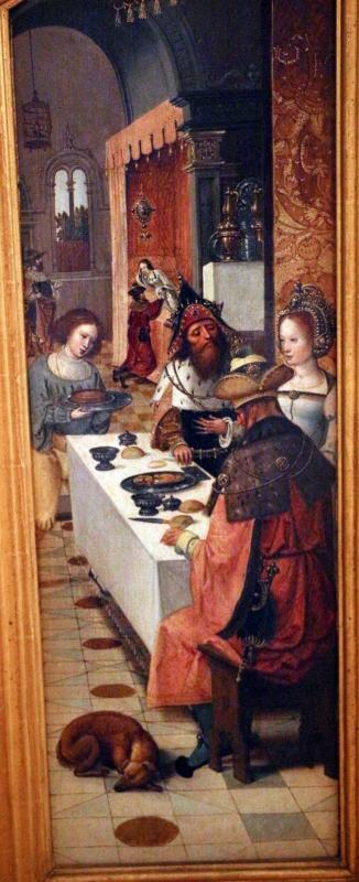 Pittore di anversa, trittico con storie di ester, assuero, adamo ed eva, 1520 ca. 05 - Sailko - Bologna (BO)