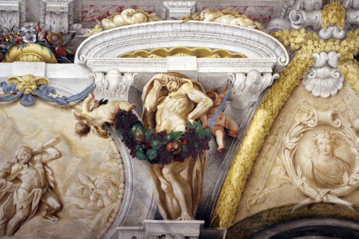Domenico Maria Canuti, salone di palazzo pepoli campogrande con apoteosi di ercole, quadrature del mengazzino, xvii sec. 29 - Sailko - Bologna (BO)