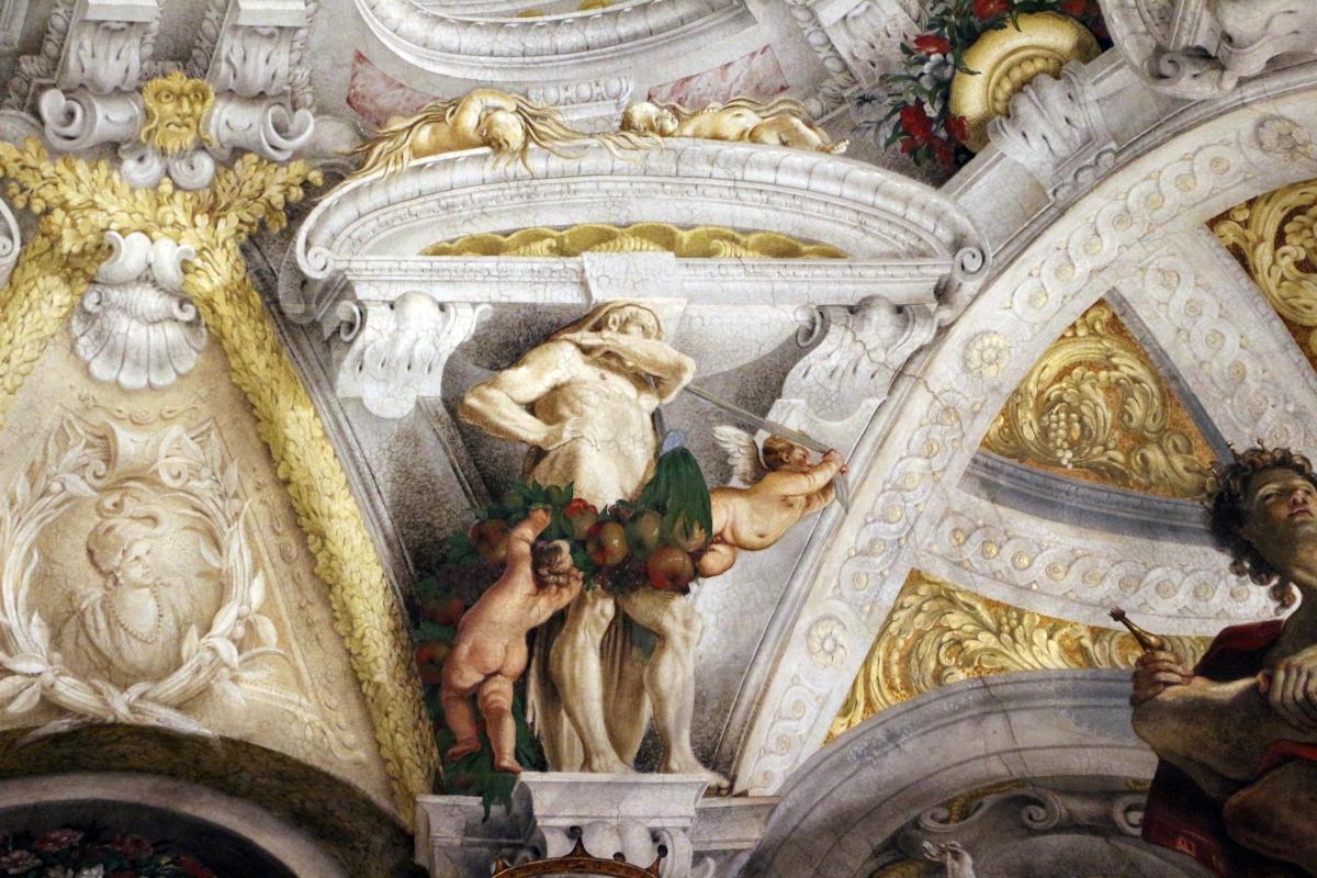 Domenico Maria Canuti, salone di palazzo pepoli campogrande con apoteosi di ercole, quadrature del mengazzino, xvii sec. 25 - Sailko - Bologna (BO)