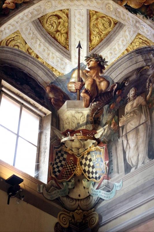 Domenico Maria Canuti, salone di palazzo pepoli campogrande con apoteosi di ercole, quadrature del mengazzino, xvii sec. 08 - Sailko - Bologna (BO)