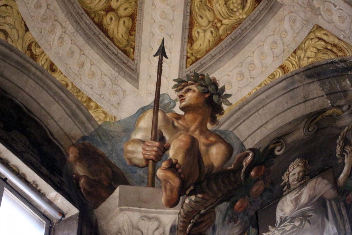 Domenico Maria Canuti, salone di palazzo pepoli campogrande con apoteosi di ercole, quadrature del mengazzino, xvii sec. 09 - Sailko - Bologna (BO)
