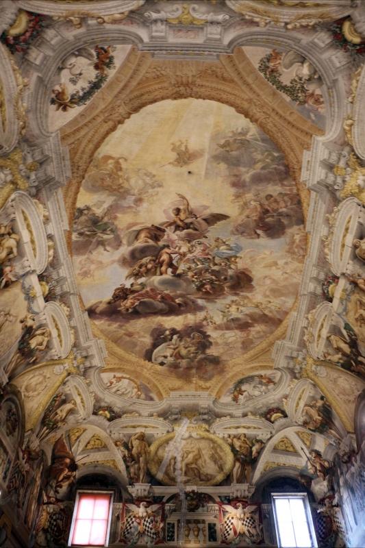Domenico Maria Canuti, salone di palazzo pepoli campogrande con apoteosi di ercole, quadrature del mengazzino, xvii sec. 00 - Sailko - Bologna (BO)