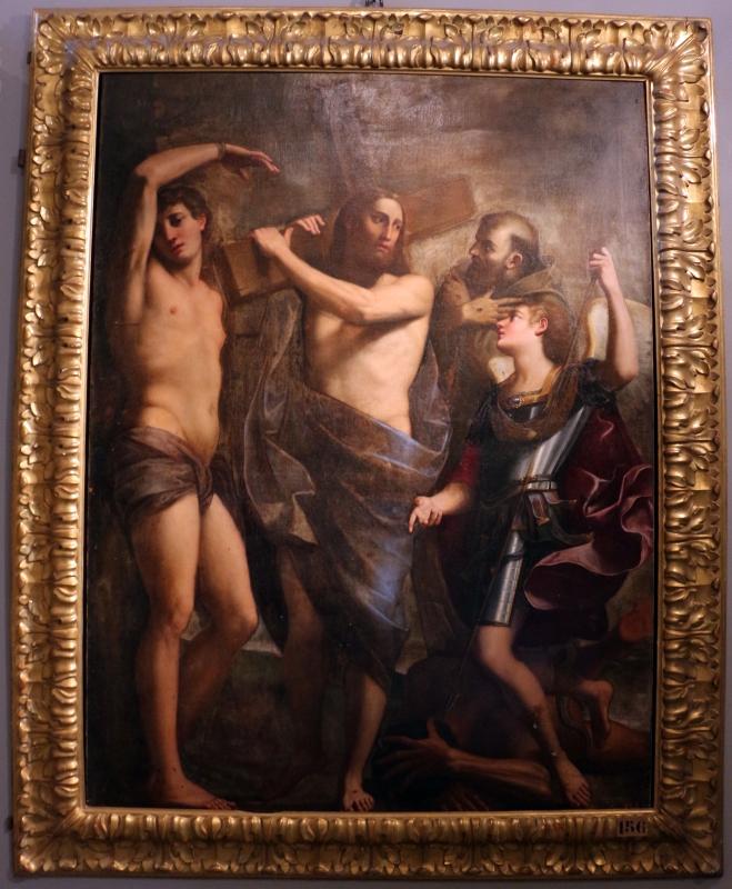 Gian giacomo sementi, cristo portacroce tra i ss. sebastiano, francesco e michele, 1620 ca., dai ss. gregorio e siro 01 - Sailko - Bologna (BO)