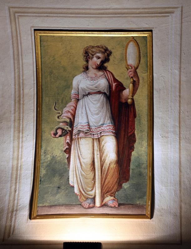 Imola, palazzo tozzoni, appartamento impero, affrescato da pasquale saviotti, 1818 ca. 05 prudenza - Sailko - Imola (BO)
