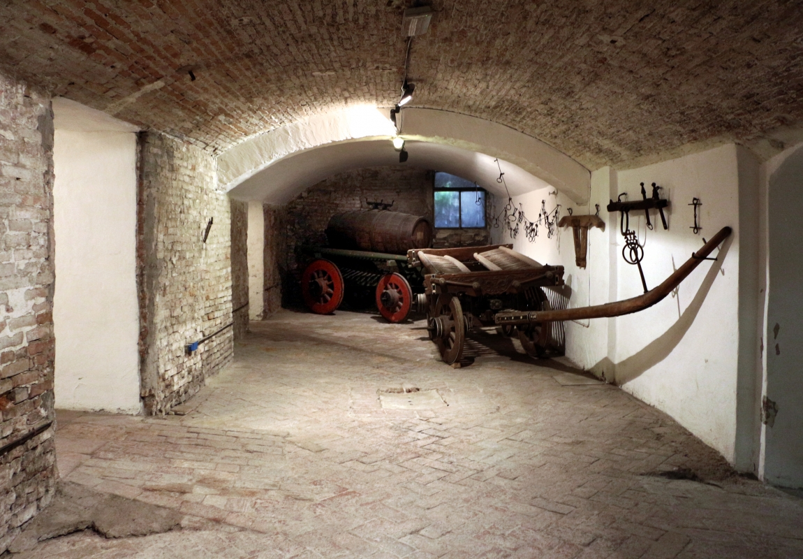 Imola, palazzo tozzoni, cantine, carri del 1830 e 1856, 01 - Sailko - Imola (BO)