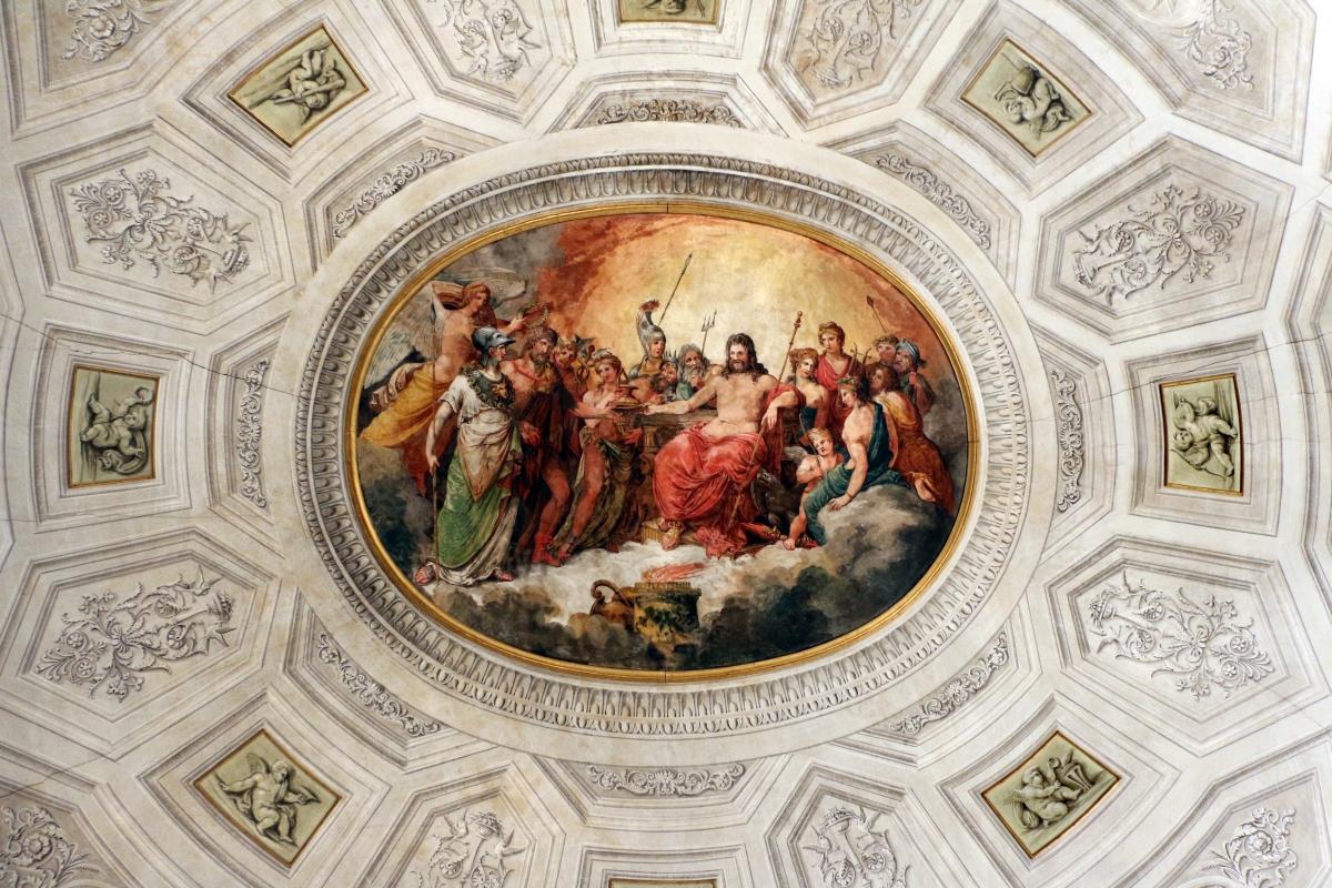 Imola, palazzo tozzoni, appartamento impero, affrescato da pasquale saviotti, 1818 ca. 01 convito degli dei - Sailko - Imola (BO)