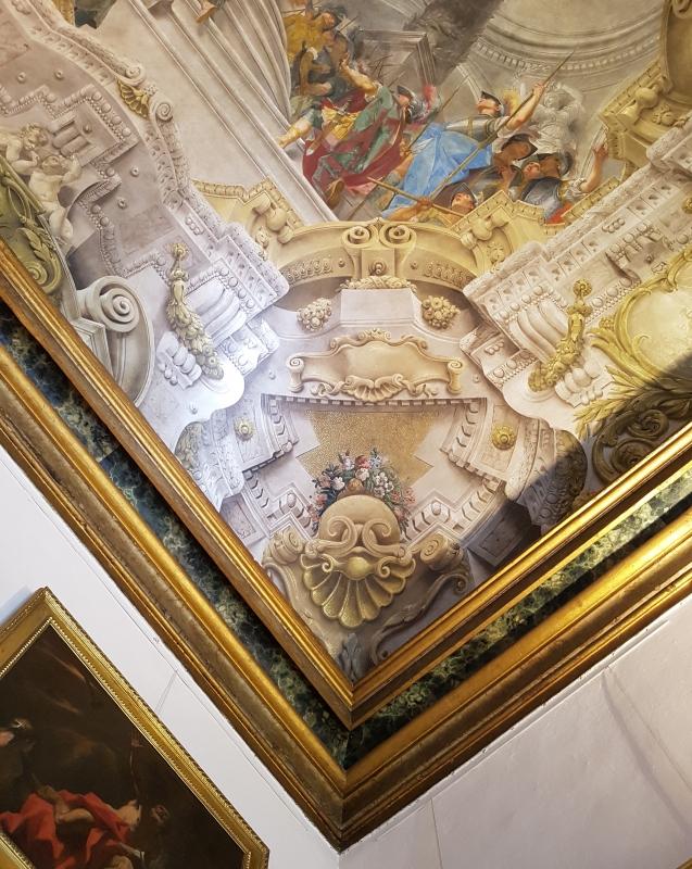 Palazzo Pepoli Campogrande - Sala di Alessandro soffitto affrescato angolo - Opi1010 - Bologna (BO)