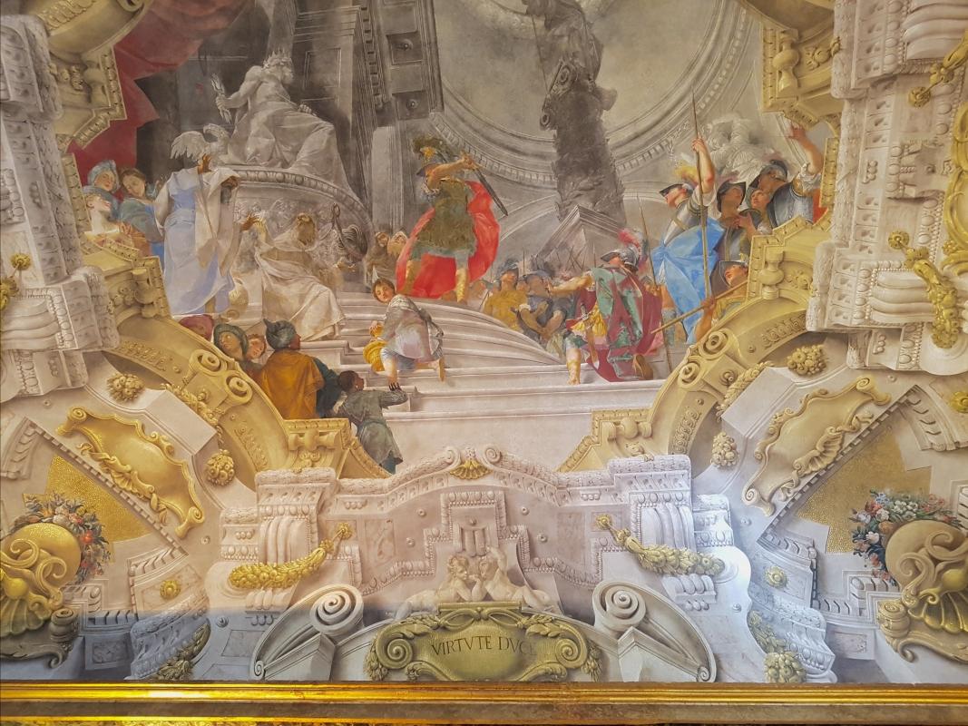 Palazzo Pepoli Campogrande - Sala di Alessandro particolare soffitto affrescato1 - Opi1010 - Bologna (BO)