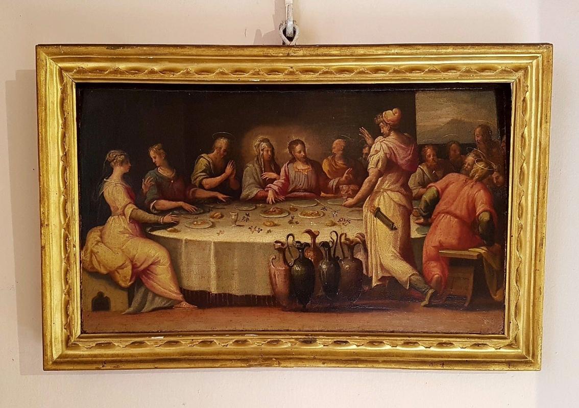 Palazzo Pepoli Campogrande - Sala di Alessandro Nozze di Cana Pittore di ambito parmense del XVI secolo - Opi1010 - Bologna (BO)