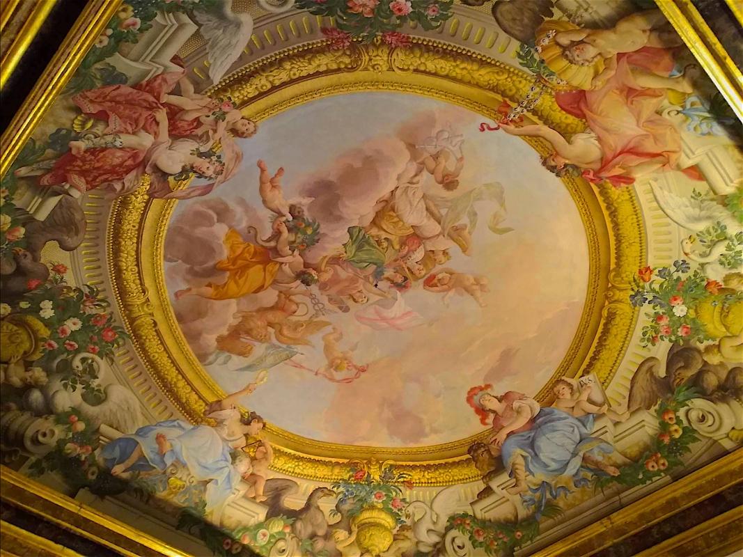 Palazzo Pepoli Campogrande dettaglio soffitto affrescato colori - CesaEri - Bologna (BO)