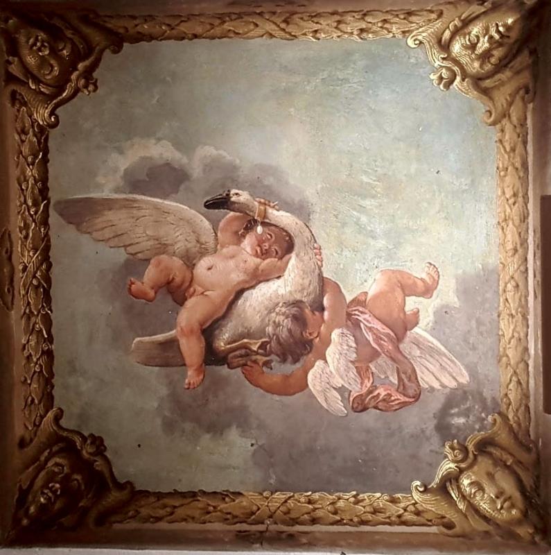 Palazzo Pepoli Campogrande - dettaglio soffitto affrescato tra Sala di Alessandro e Sala dell'Olimpo - Opi1010 - Bologna (BO)