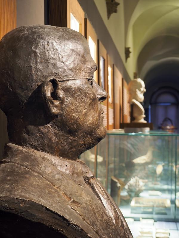 Corridoio del museo Scarabelli nel complesso di San Domenico - Bolorsi - Imola (BO)