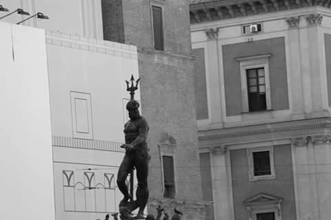 Nettuno in nero - Marco Brosco - Bologna (BO)