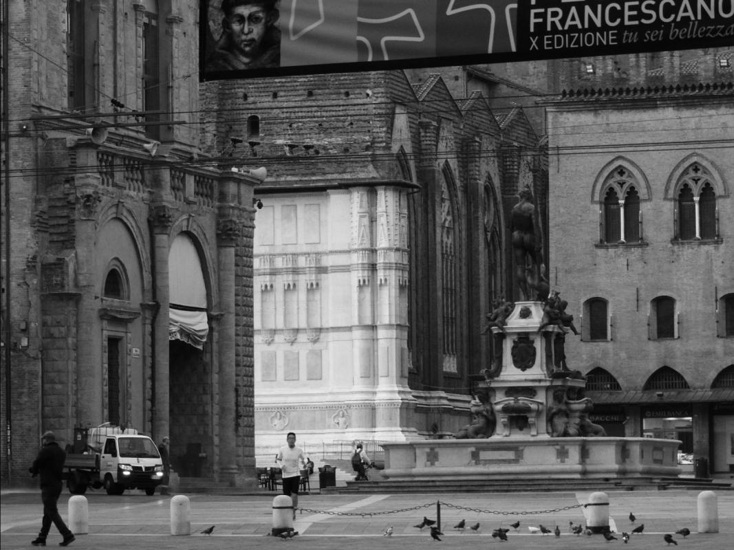 Bologna Fontana del Nettuno panoramica - Sansavini - Bologna (BO)