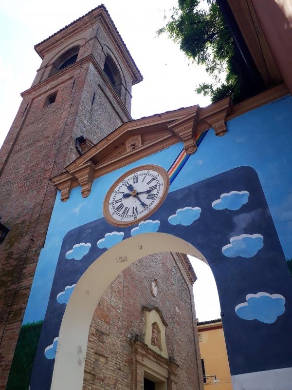 Dipinto di un orologio a Dozza - Rakel ytal - Dozza (BO)