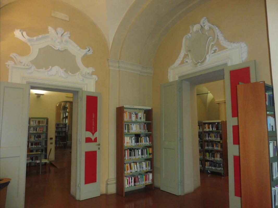 Biblioteca Comunale - dettaglio porte - Maurolattuga - Imola (BO)