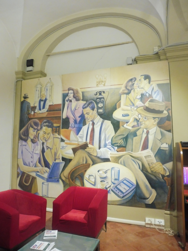 Biblioteca Comunale - dettaglio murales - Maurolattuga - Imola (BO)